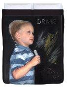 Chalk Talk - Mom Loves U Duvet Cover