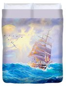 Challanging Tides Duvet Cover