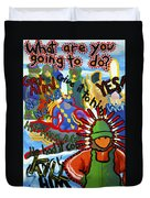 Challenge To Action Duvet Cover