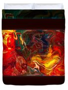 Challenges And Moments In Time Abstract Healing Art Duvet Cover