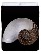 Chambered Nautilus Cross-section Duvet Cover