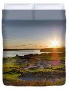 Chambers Bay Sun Flare - 2015 U.s. Open  Duvet Cover