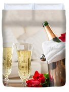 Champagne And Ice Bucket Duvet Cover by Amanda Elwell