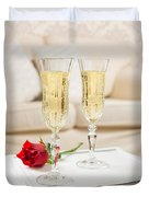 Champagne And Rose Duvet Cover