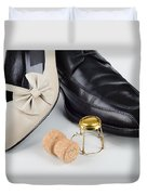 Champagne And Shoes For Saint Valentine Duvet Cover