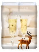 Champagne At Christmas Duvet Cover