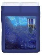 Champagne Blue  Duvet Cover