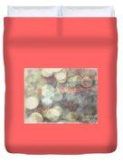 Champagne Bubbles And Sunset Duvet Cover