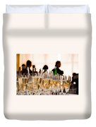 Champagne Glasses At The Party Duvet Cover