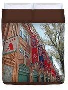 Championship Banners Duvet Cover by Barbara McDevitt