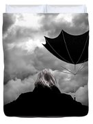 Chance Of Rain   Broken Umbrella Duvet Cover