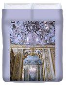 Chandelier Inside Chateau De Chantilly Duvet Cover