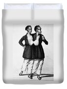 Chang And Eng (1811-1874) Duvet Cover