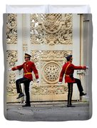 Change Of Guards Ceremony Dolmabahce Istanbul Turkey Duvet Cover