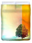 Change Of The Seasons - The Moment When Summer Meets With Fall Duvet Cover