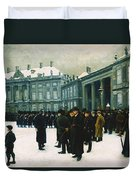 Changing Of The Guard At Amalienborg Palace Duvet Cover