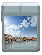 Chania Town On Crete Duvet Cover