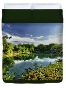 Chankanaab Lagoon Reflections Duvet Cover