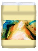 Channels - Abstract Art By Sharon Cummings Duvet Cover