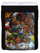 Chaos In Flight Duvet Cover