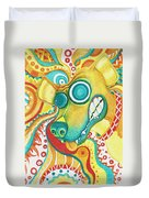Chaotic Canine Duvet Cover by Shawna Rowe