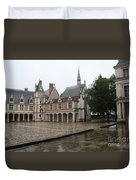 Chapel And Courtyard Chateau Blois Duvet Cover