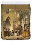 Chapel At Haddon Hall, Derbyshire Duvet Cover
