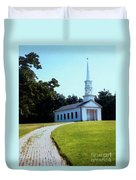Chapel At The Wayside Inn Duvet Cover by Desiree Paquette