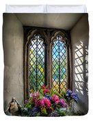Chapel Flowers Duvet Cover by Adrian Evans
