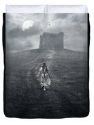 Chapel In Mist Duvet Cover