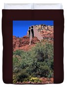 Chapel In Red Rocks Duvet Cover