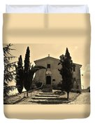 Chapel Of San Amasio Duvet Cover