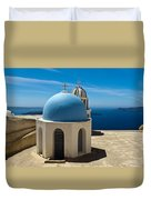 Chapel On Santorini Duvet Cover