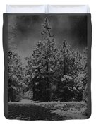 Charcoal Snowfall Duvet Cover