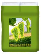 Chardonnay Grapes Duvet Cover by Mike Robles