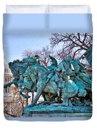 Charge On The Capitol Duvet Cover