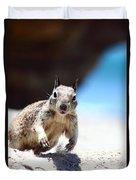 Charging Ground Squirrel Duvet Cover