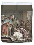 Charlemagne Receives The Ambassadors Duvet Cover