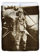 Charles A. Lindbergh And Spirit Of St. Louis May 12 1927 Duvet Cover