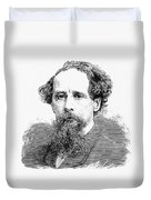 Charles Dickens, English Author Duvet Cover