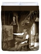 Charles Dickman Artist Monterey California Circa 1907 Duvet Cover