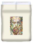 Charles Mingus Watercolor Portrait Duvet Cover
