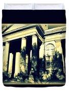 Charleston Church In Black And White Duvet Cover