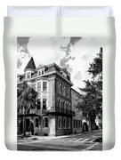Charleston Corner Charleston Sc Duvet Cover by William Dey
