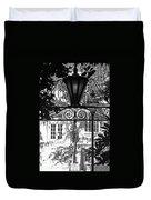 Charleston Gateway II In Black And White Duvet Cover