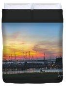 Charleston Harbor Sunset Duvet Cover