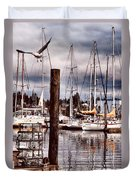 Charleston Marina At The End Of The Day Duvet Cover