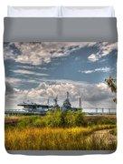 Charleston Marsh View Duvet Cover