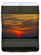 Charleston Sc Sunset Duvet Cover