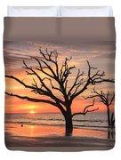 Charleston South Carolina Edisto Island Beach Sunrise Duvet Cover